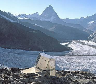 Cabane du Mont-Rose (2'883 m.)