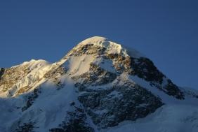 Breithorn (4'164 m.), soleil levant (05:44)